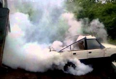 Show de boucane avec un Land Rover – Land Rover Burnout